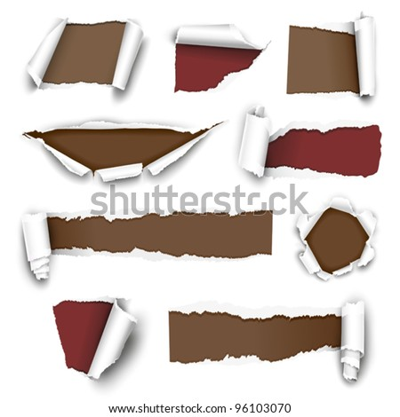 Torn paper. Vector illustration - stock vector