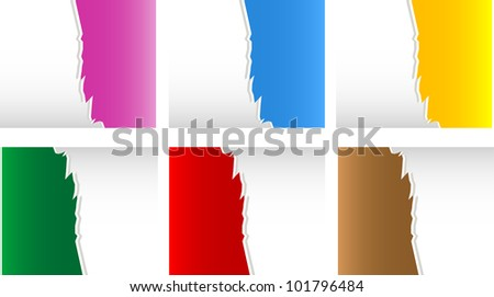 Torn Paper with space for text with white background - stock vector