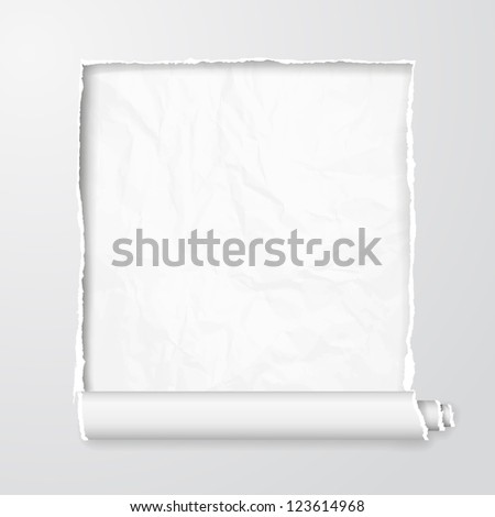 Torn paper with space for your message. Vector Illustration, contains transparencies - stock vector