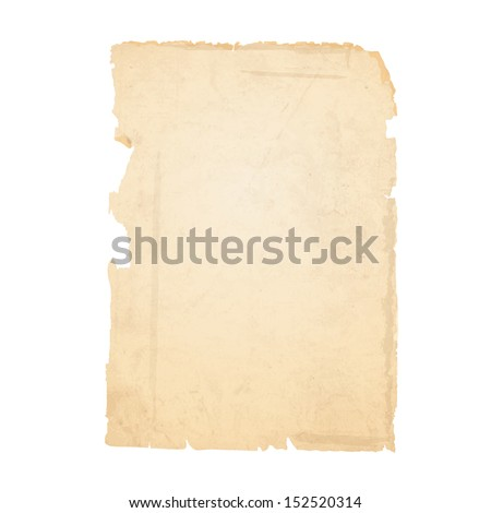 Torn sheet of old paper. Vector EPS10  - stock vector