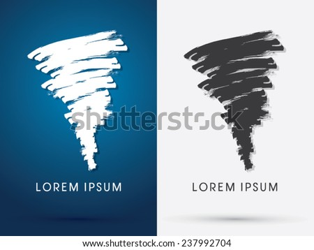 Tornado Storm, hurricane, whirlwind, brush,abstract logo, symbol, icon, graphic, vector .