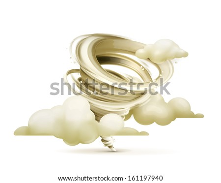 Tornado, vector icon - stock vector