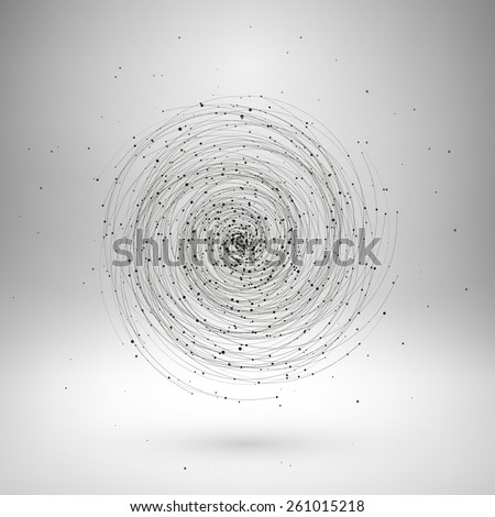 Tornado, vector illustration. Top view. - stock vector