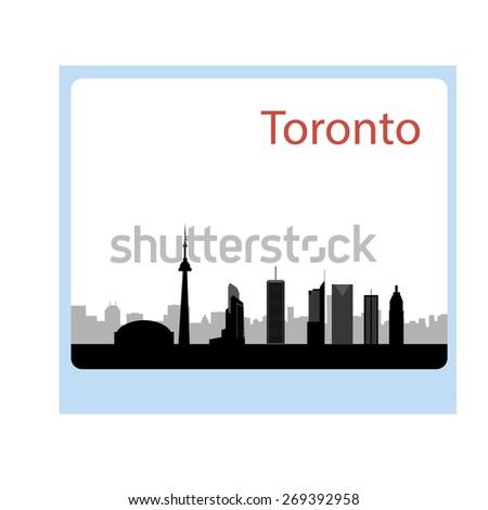 Toronto Canada skyline. Detailed vector silhouette - stock vector