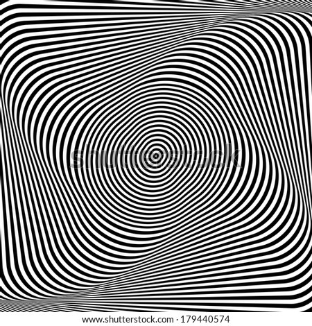 Torsion illusion. Abstract op art background. Vector art. - stock vector