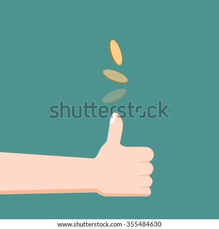 toss or flip a coin-vector - stock vector