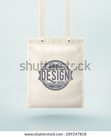 Tote bag for design, eps 10 - stock vector