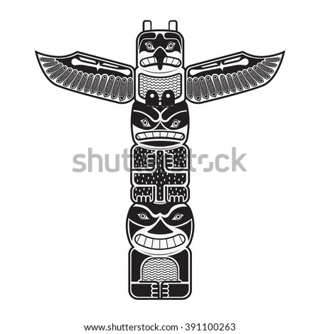 Totem Being Object Symbol Animal Plant Stock Vector 391100263