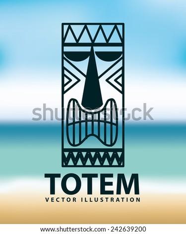 totem icon - stock vector