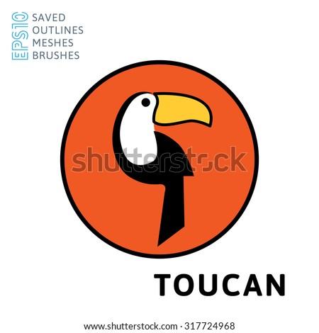 Toucan logo - stock vector