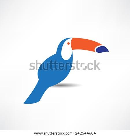 Toucan logo template. Bird icon - stock vector