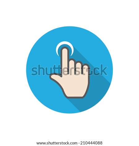touch. flat hand icon pointer. vector eps10 - stock vector