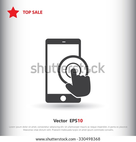 Touch icon, Touch icon eps10, Touch icon vector, Touch icon eps, Touch icon jpg, Touch icon picture, Touch icon flat, Touch icon app, Touch icon web, Touch icon art, Touch icon, Touch icon object - stock vector