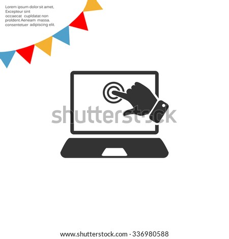 touch operation, web icon. vector design