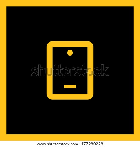 Touch pad isolated minimal single flat linear icon. Gadget line vector icon for websites and applications minimalistic flat design.