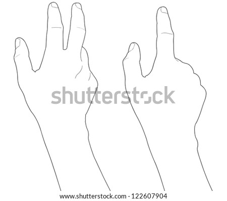Touch screen gesture, interface (vector hand icons) - stock vector