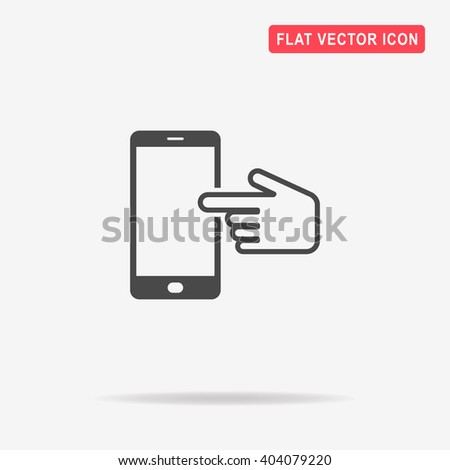 Touch screen icon. Vector concept illustration for design.