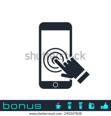 Touch screen smart phone icon - stock vector