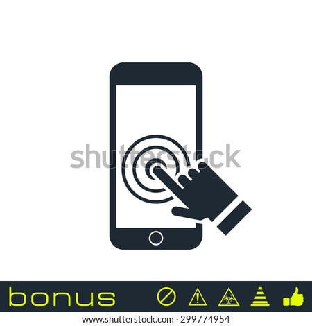 Touch screen smartphone icon - stock vector