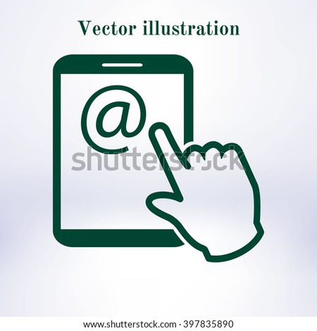 Touch screen tablet PC sign icon.  - stock vector