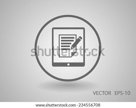 touchpad notes icon - stock vector