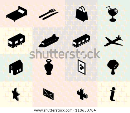 Tourism Information Icon - stock vector