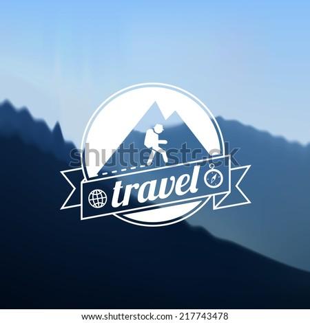 Tourism travel logo design - stock vector