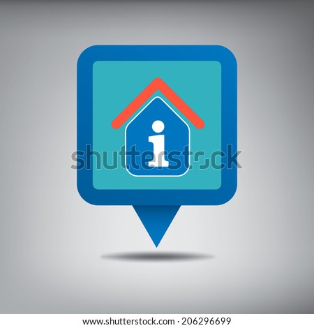 Tourist Information Centre On Blue Location Stock Vector 206296699