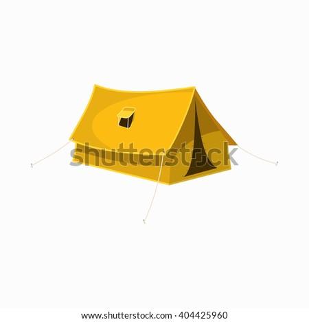Tourist tent icon, cartoon style - stock vector