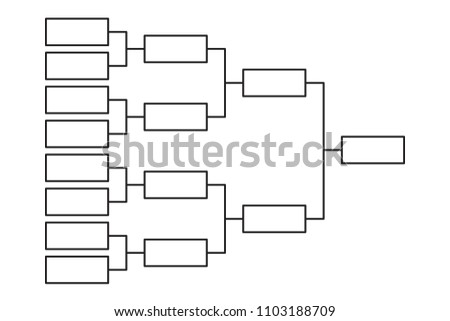 tournament bracket 8 team icon template stock vector royalty free