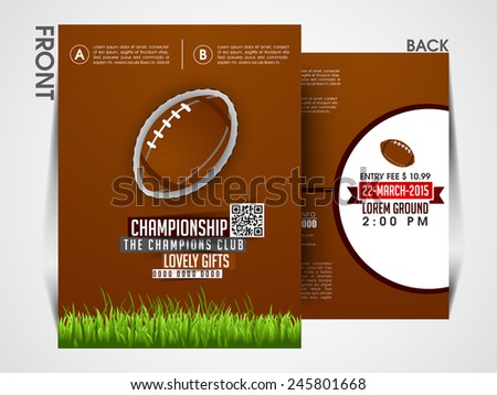 Tournament flyer template Eps10, Brochure, magazine cover. - stock vector
