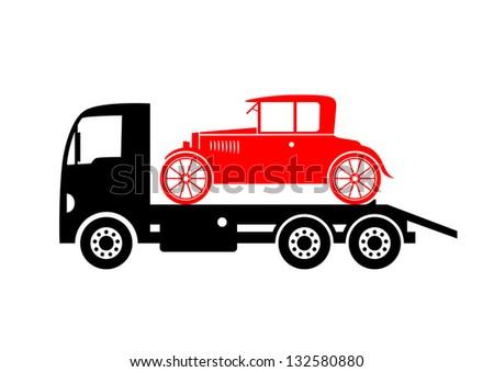 Tow truck - stock vector