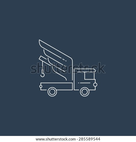Tow truck. Road service. - stock vector