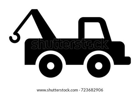 Tow Truck Vector Icon Stock Vector 2018 723682906 Shutterstock