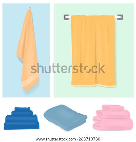 Towel - stock vector