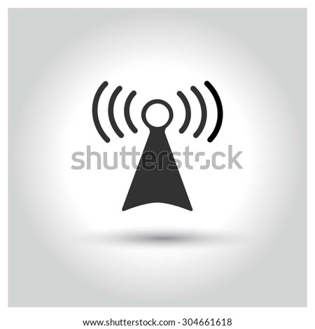 Tower antenna icon. concept web buttons. vector illustration. Flat design style - stock vector