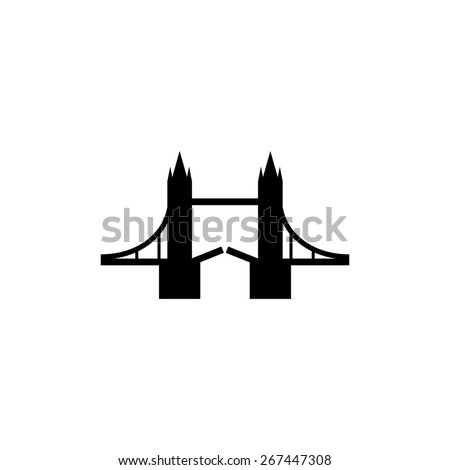 Tower Bridge, London icon - stock vector
