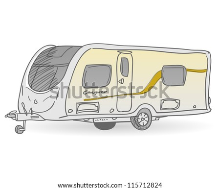 Towing Caravan - Vacation mobile trailer as accommodation for recreation