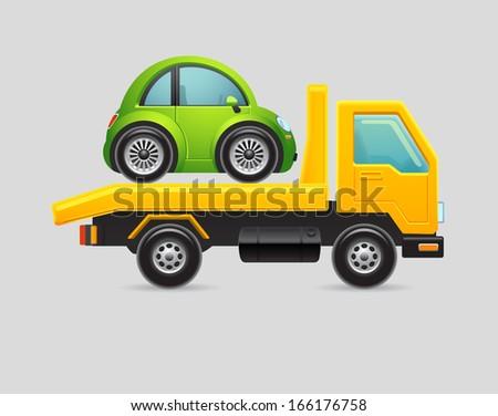 Towing truck - stock vector
