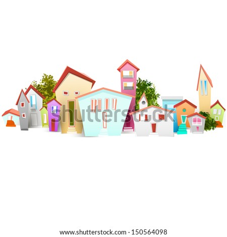 town - stock vector