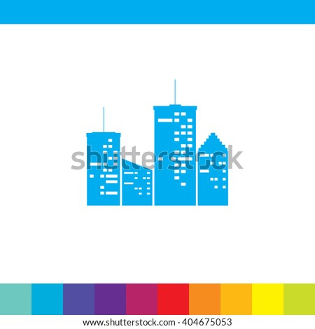 Town at Night vector icon