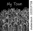 Town Doodle - stock vector