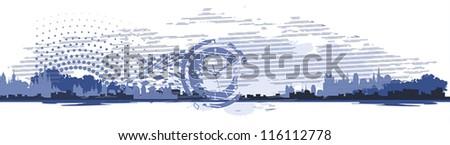 town header web design template - stock vector