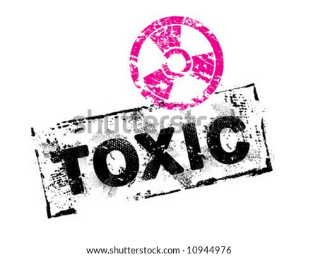 Toxic_Grunge_Stamp - stock vector