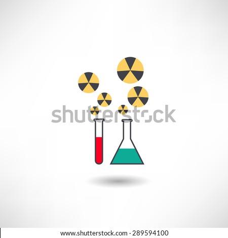 Toxic substances icon - stock vector
