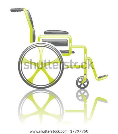 Toxic Wheelchair glossy Illustration - stock vector