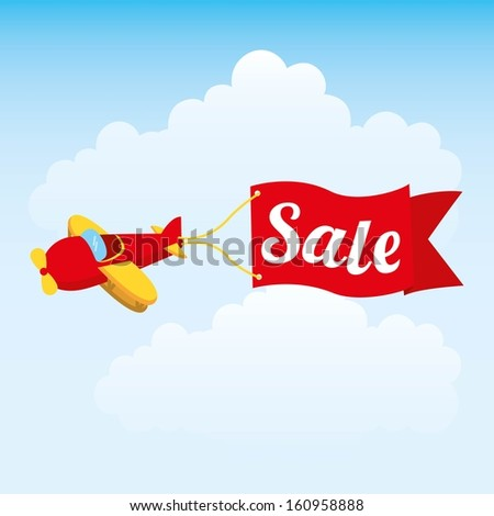 toy baby design over sky background vector illustration - stock vector