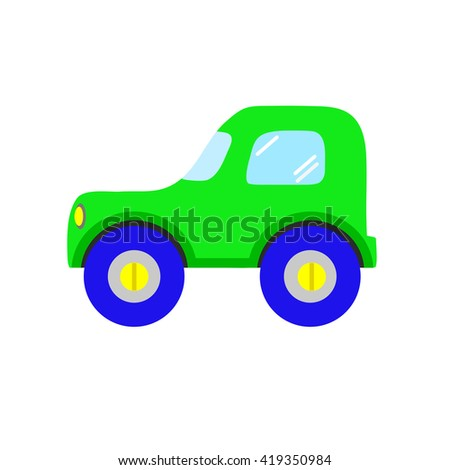 Toy car , isolated on white background, vector illustration