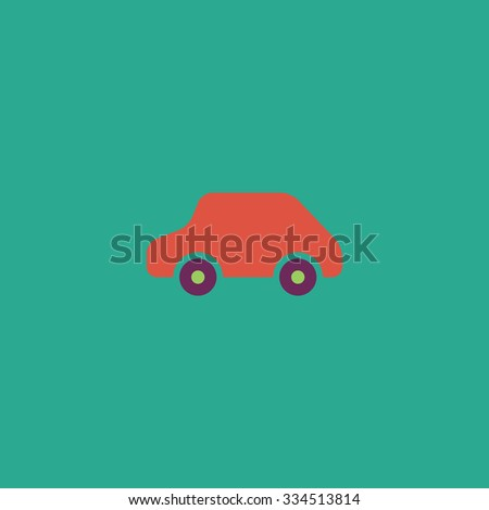 Toy Car logo template. Colorful vector icon. Simple retro color modern illustration pictogram. Collection concept symbol for infographic project and logo - stock vector