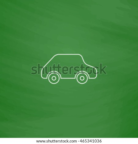 toy car outline vector icon imitation stock vector 465341036